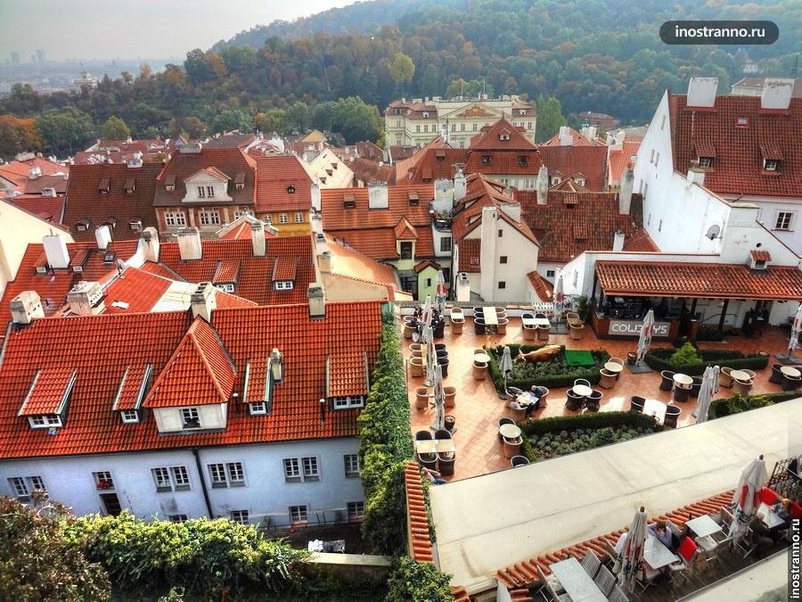 ресторан на крыше в Праге