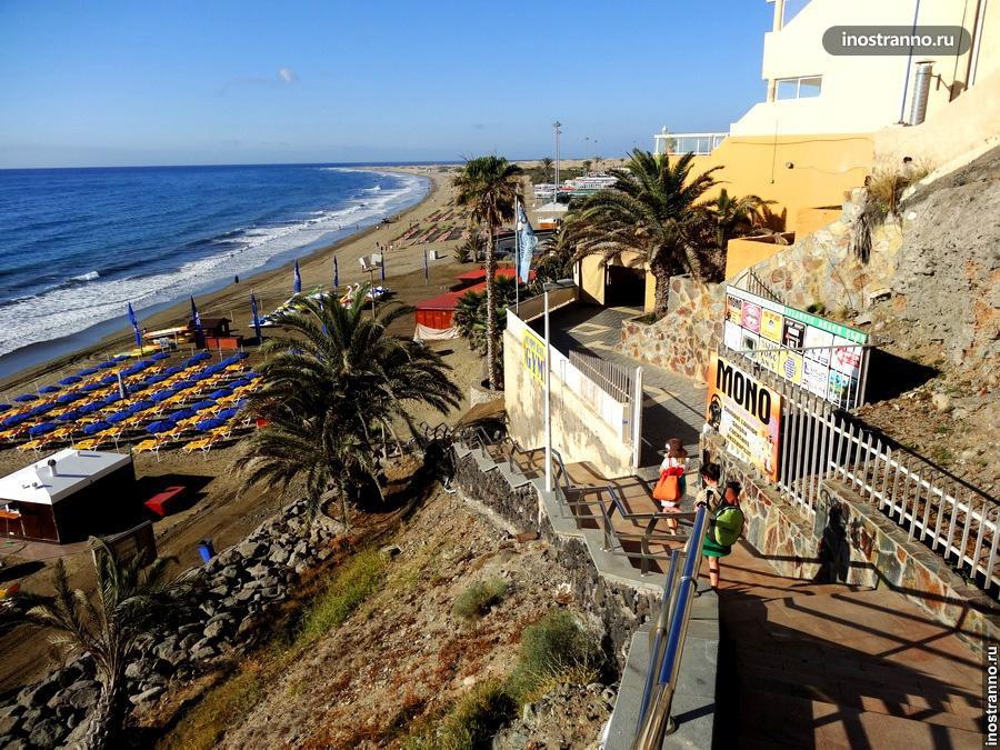 Пляжный отдых на курорте Маспаломас