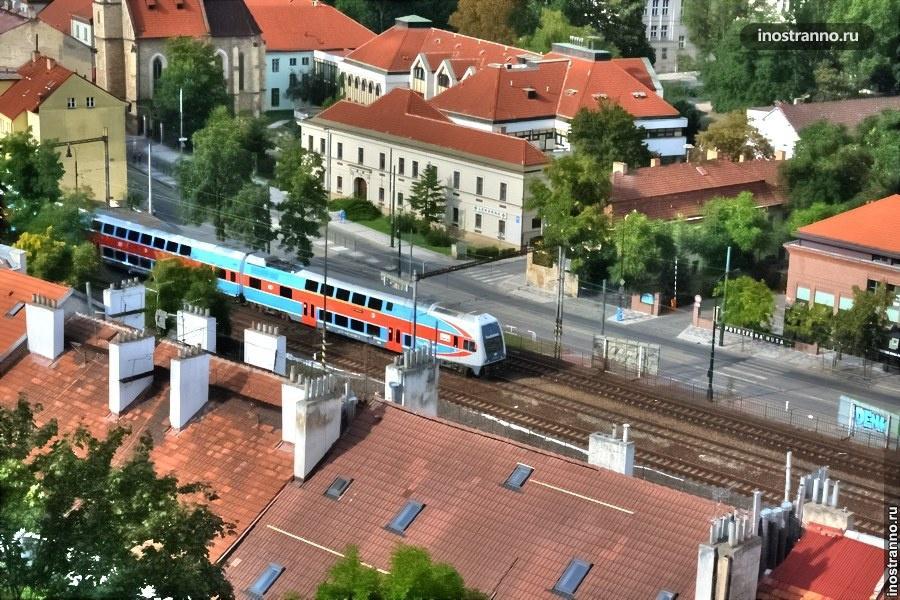 Поезд в Праге