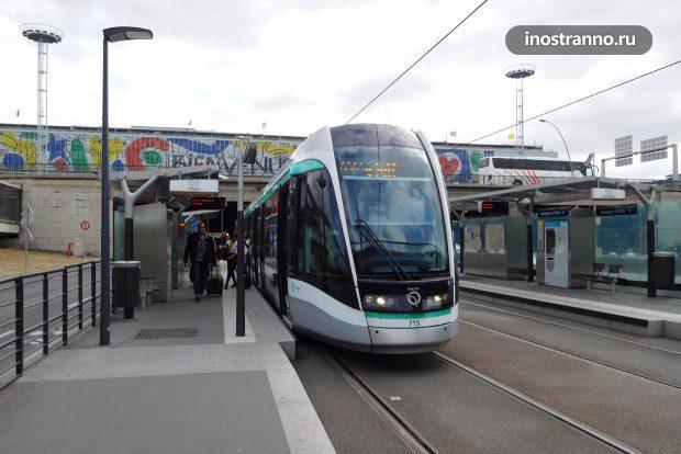 Трамвай в Париже