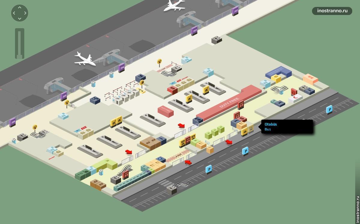 схема терминала в сабиха гекчен