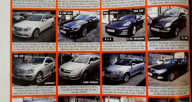 Продажа автомобилей в чехии