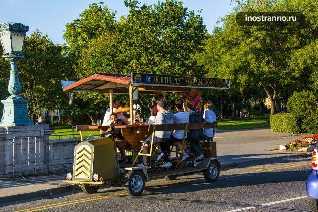Пивной велосипед досуг в Будапеште