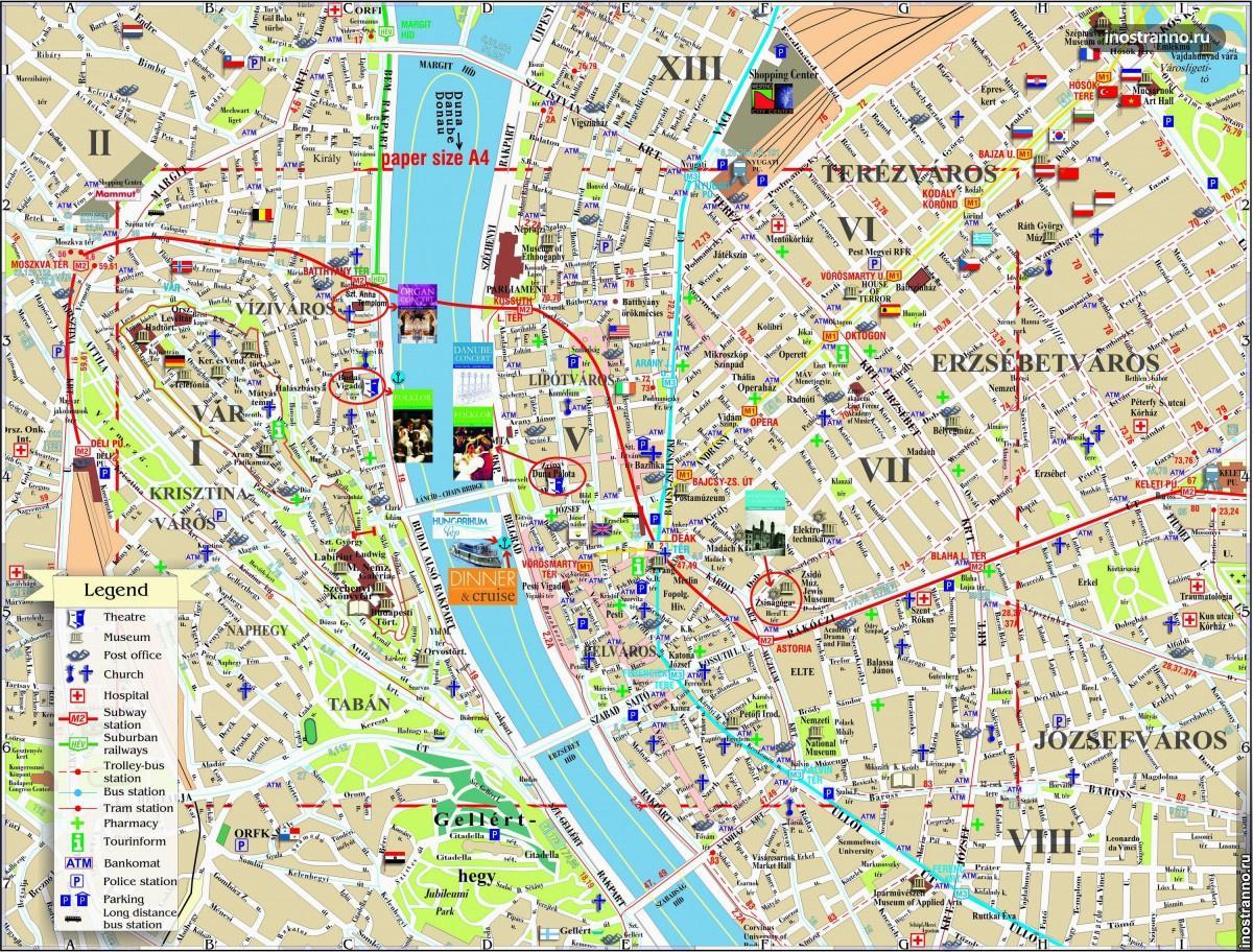 карта будапешта