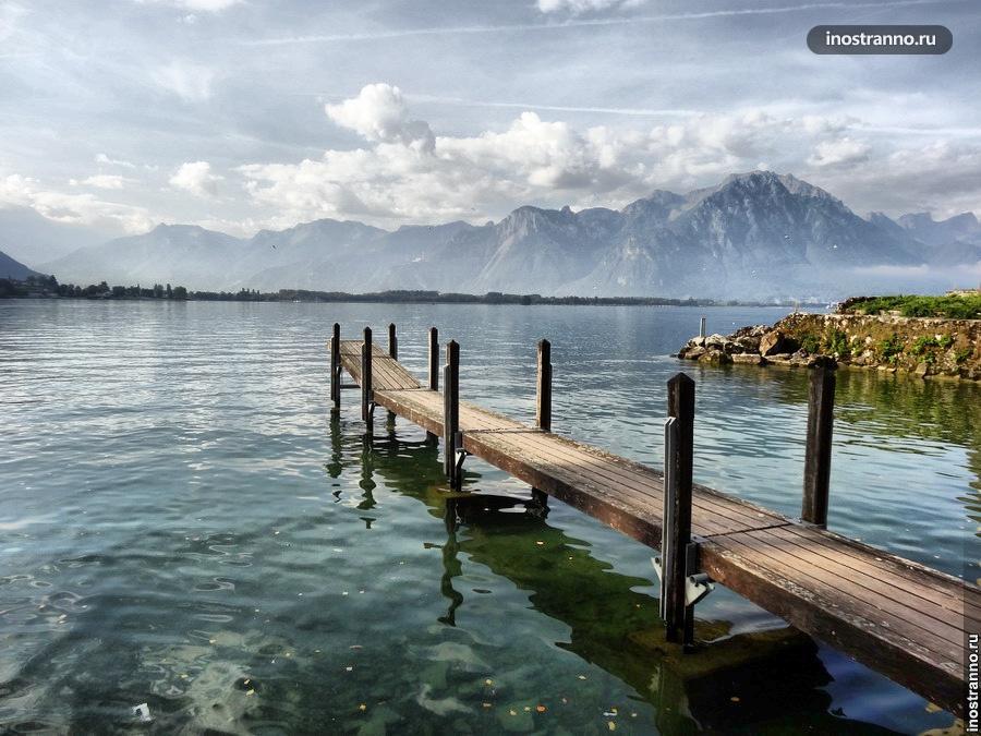 Монтрё, Женевское озеро