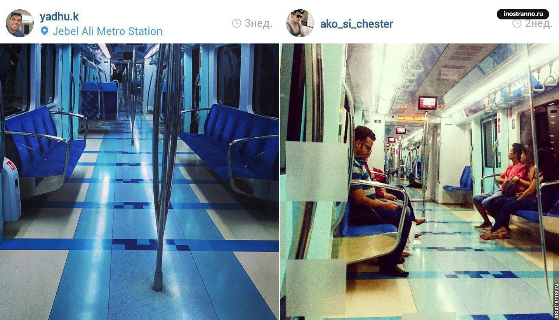 Вагон метро в Дубае