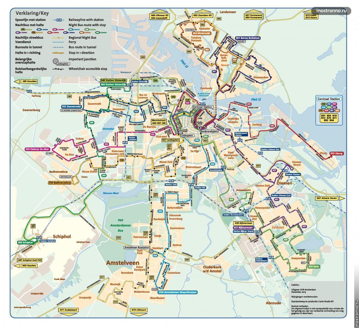 ночные автобусы в амстердаме