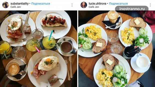 Cafe Jen кафе для завтрака в центре Праги