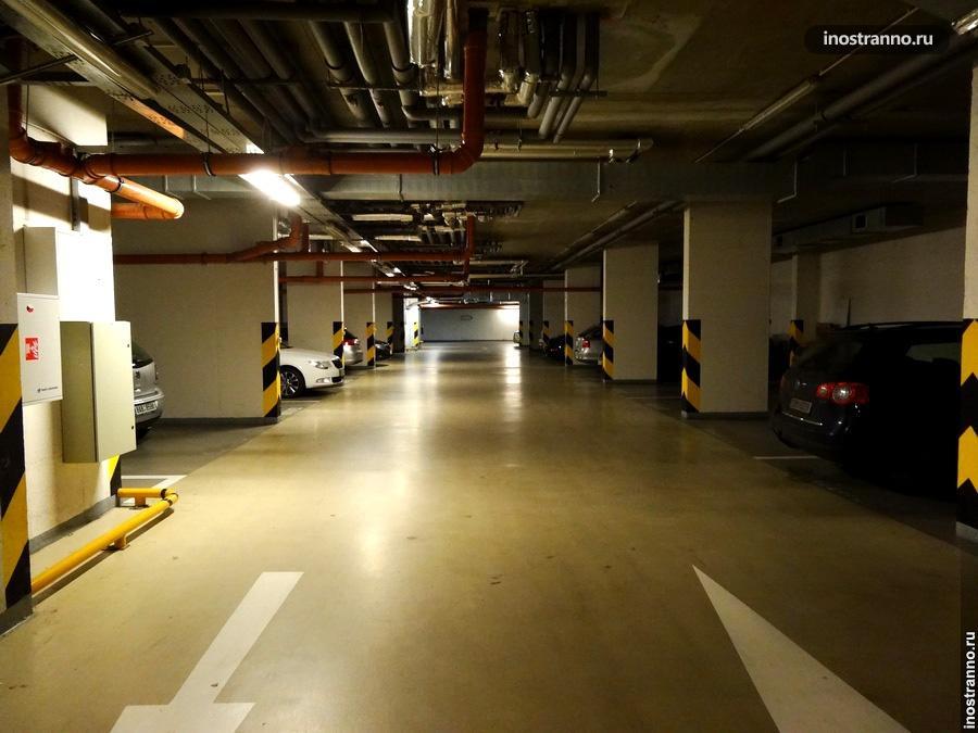 Подземный паркинг в Праге