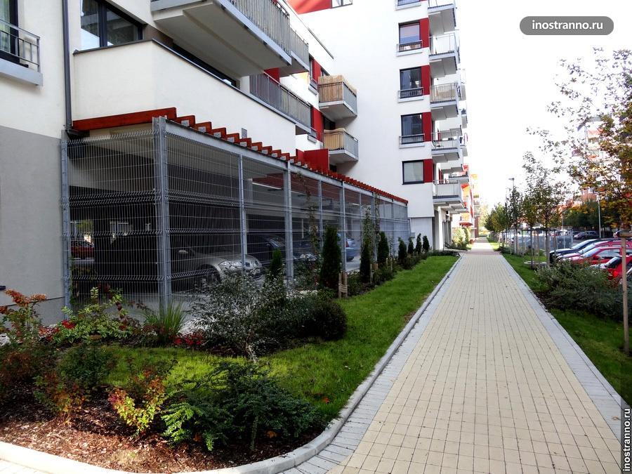 Типичные новые дома в Праге