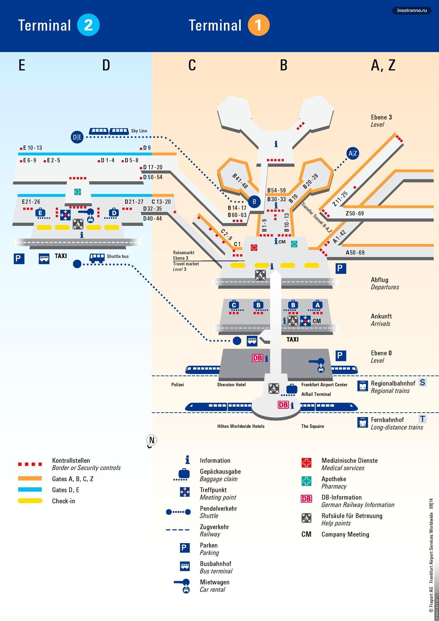 Схема аэропорта мюнхена, карта и план аэропорта мюнхена на русском.