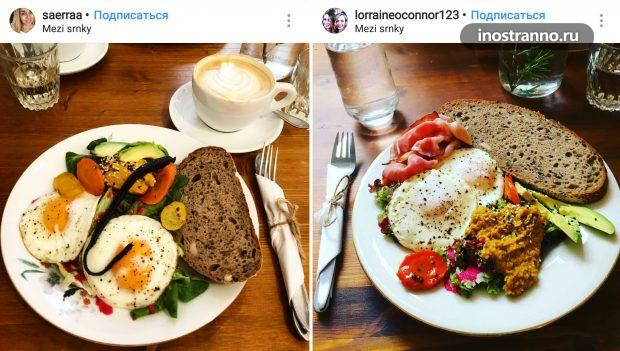 Mezi Srnky кафе с сытным завтраком в Праге