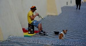 Уличные артисты в Праге
