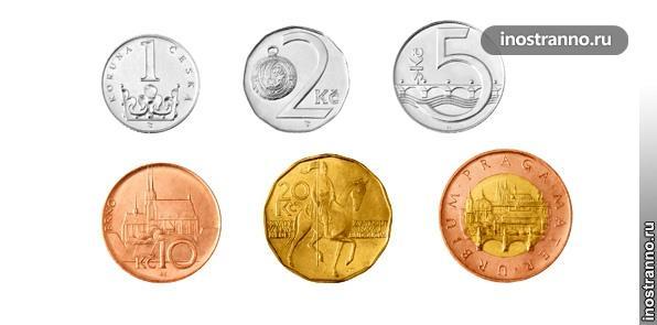 Чешская крона - монеты