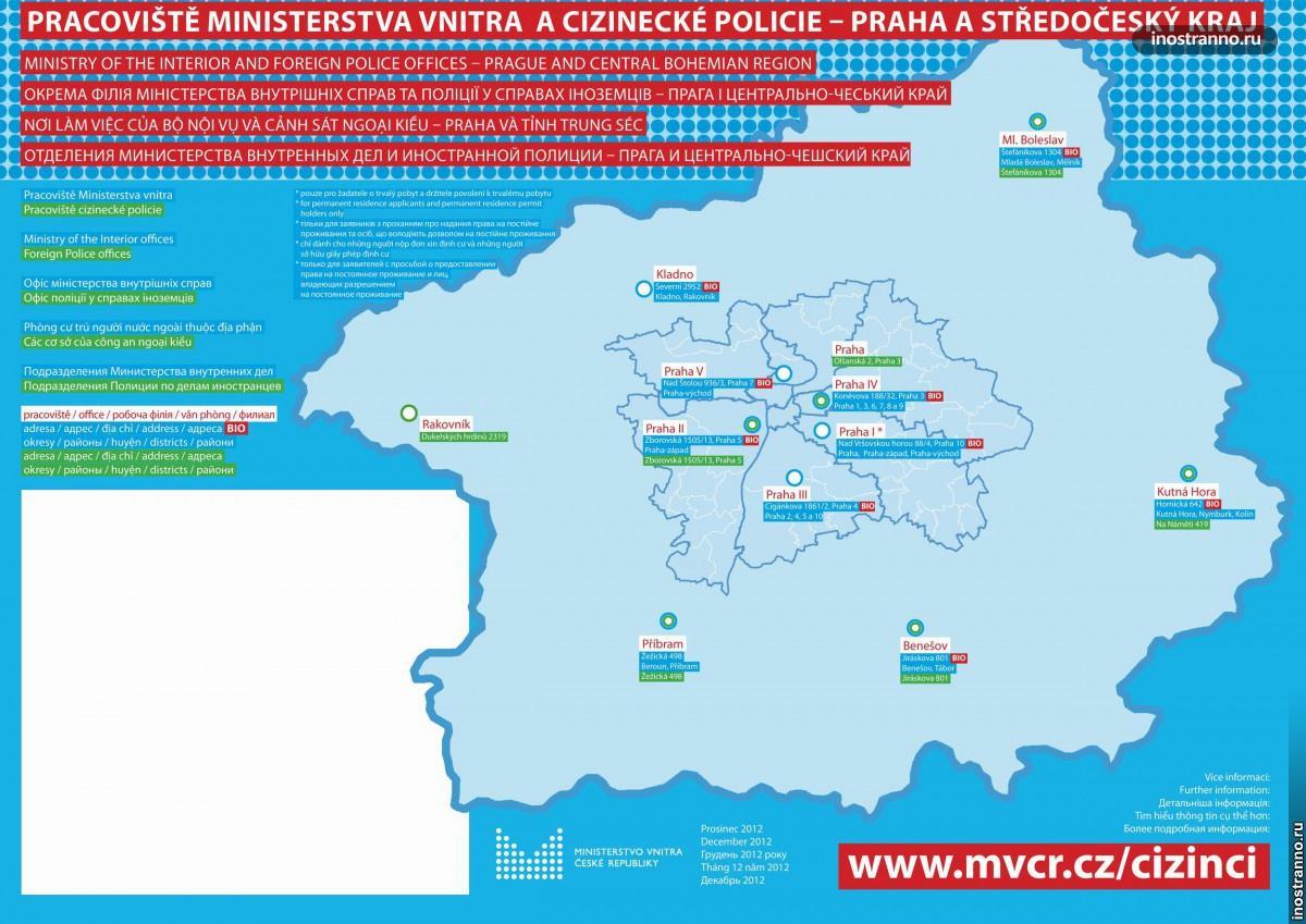 Полиция для иностранцев в Праге