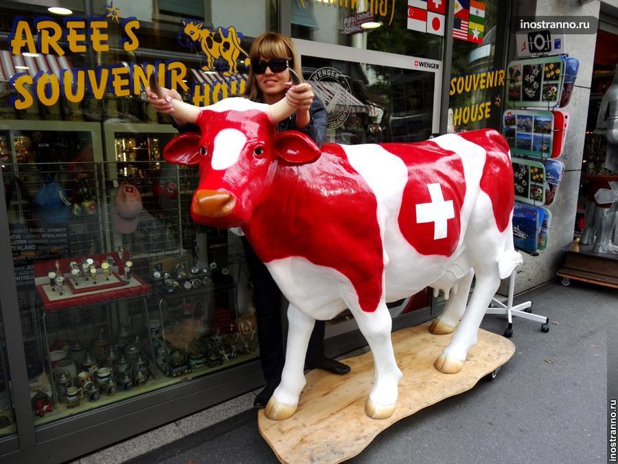 Коровка в Швейцарии