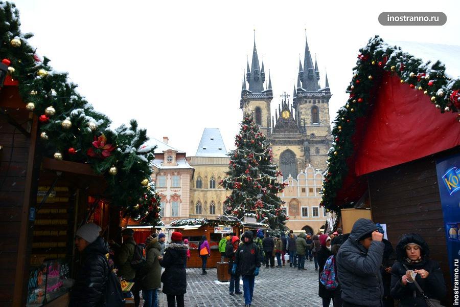 Главная елка Чехии на Староместской площади
