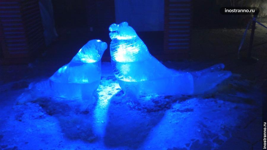 Ледяная скульптура тюленя