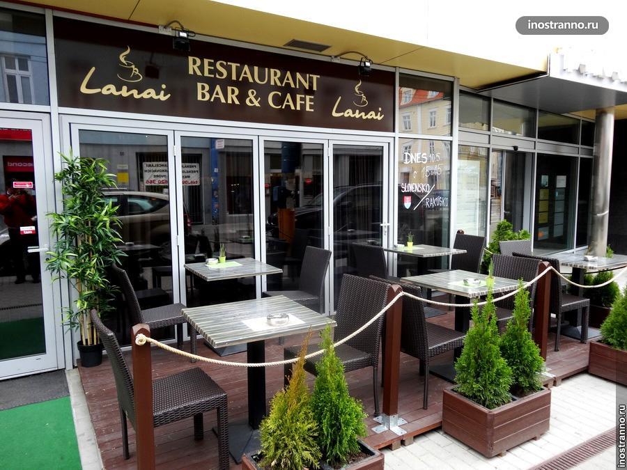Уличное кафе в Братиславе