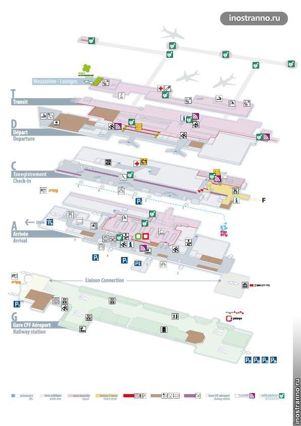 План аэропорта Женевы