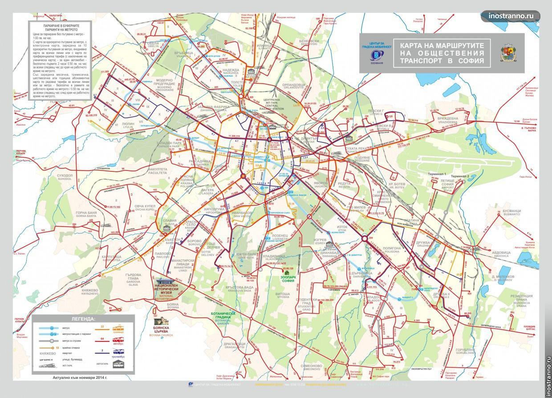 Map Sofia Transport