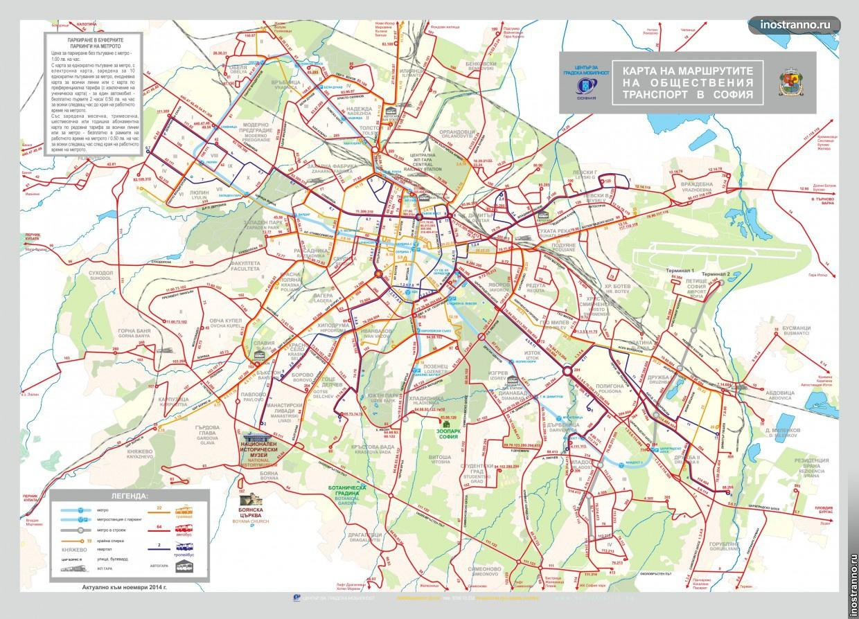 Map Sofia Transport