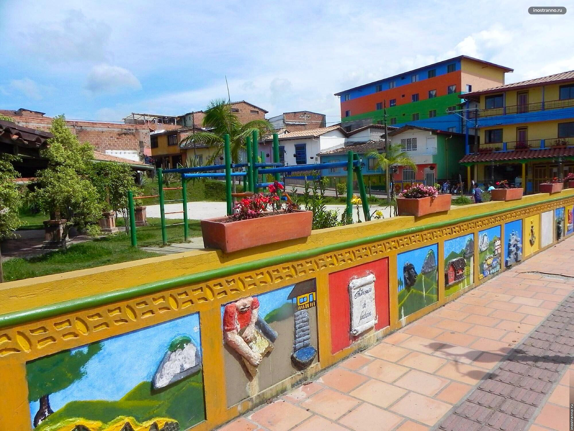 Маленький город Гуатапе, Колумбия