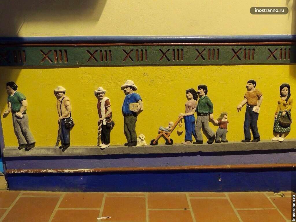 Рисунки на домах Гуатапе