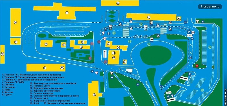Схема аэропорта Крыма