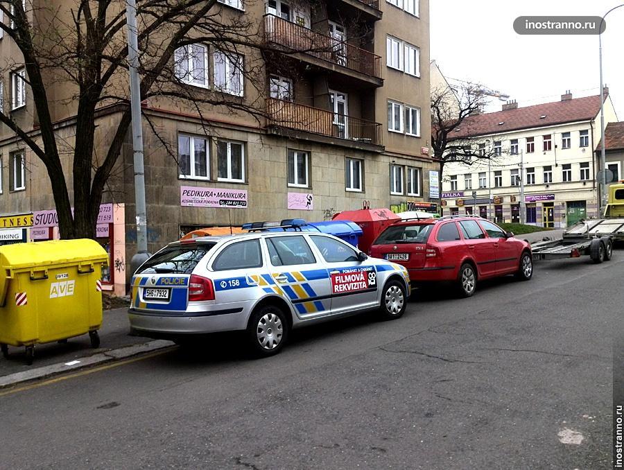 Полицейская машина в Чехии