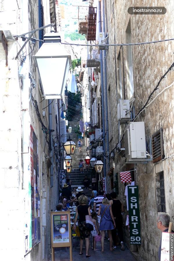 улочка Дубровника