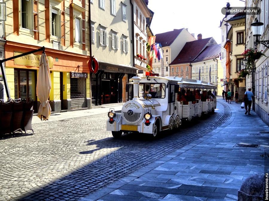 Туристический паровоз в Любляне