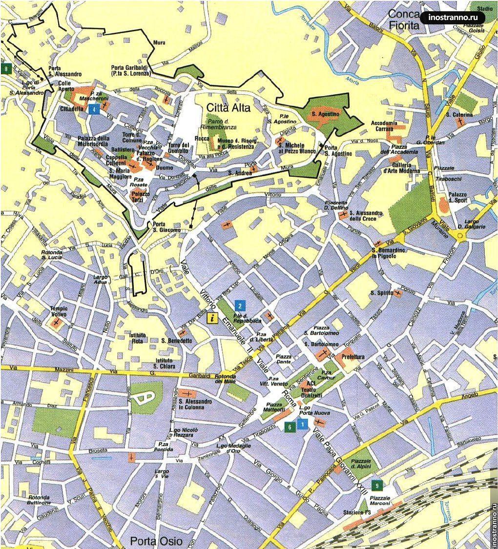 Карта Бергамо