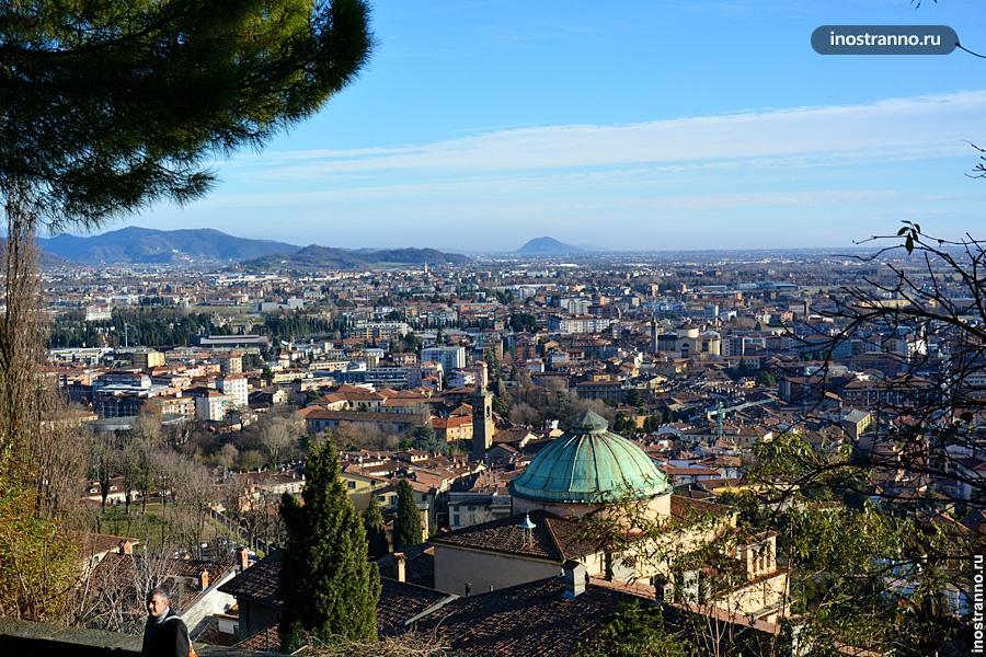 Нижний город в Бергамо