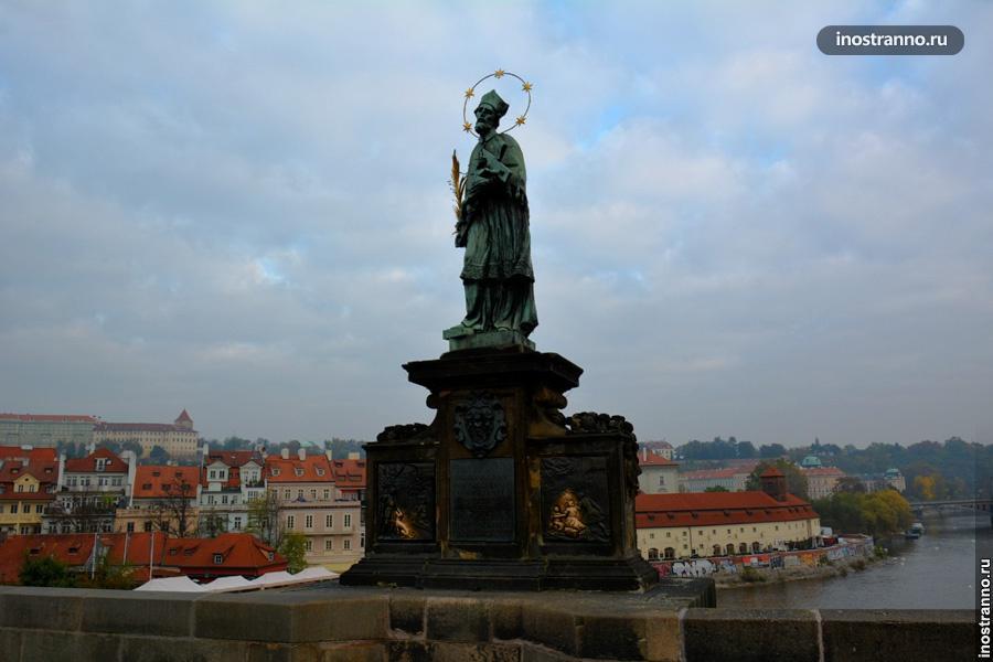 Статуя Карлов Мост - Ян Непомуцкий
