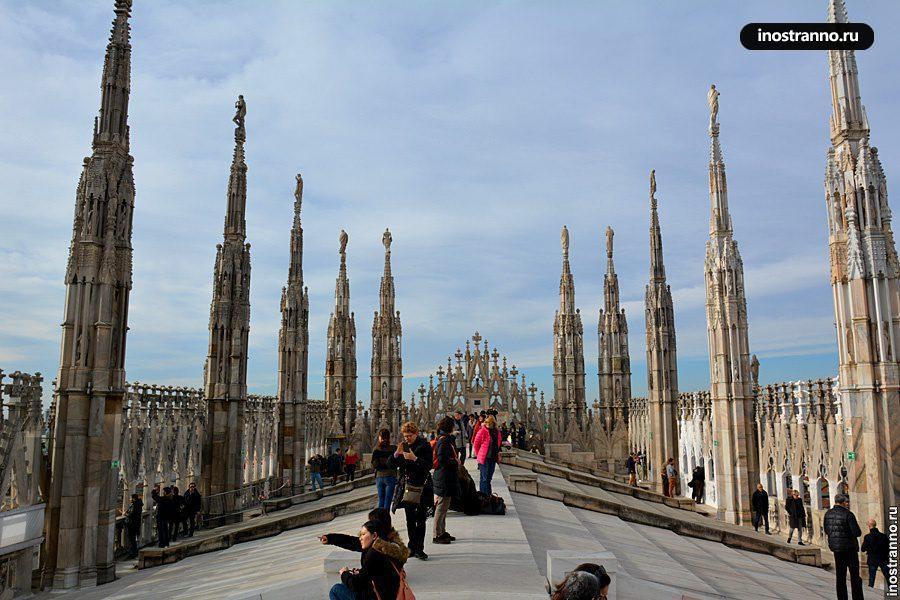 Крыша Дуомо в Милане