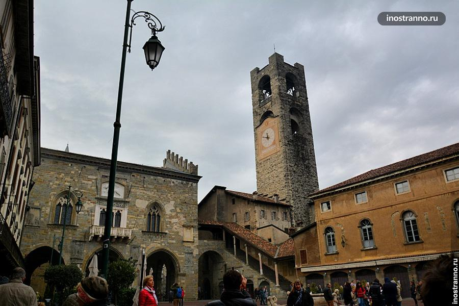 Старая площадь в Бергамо