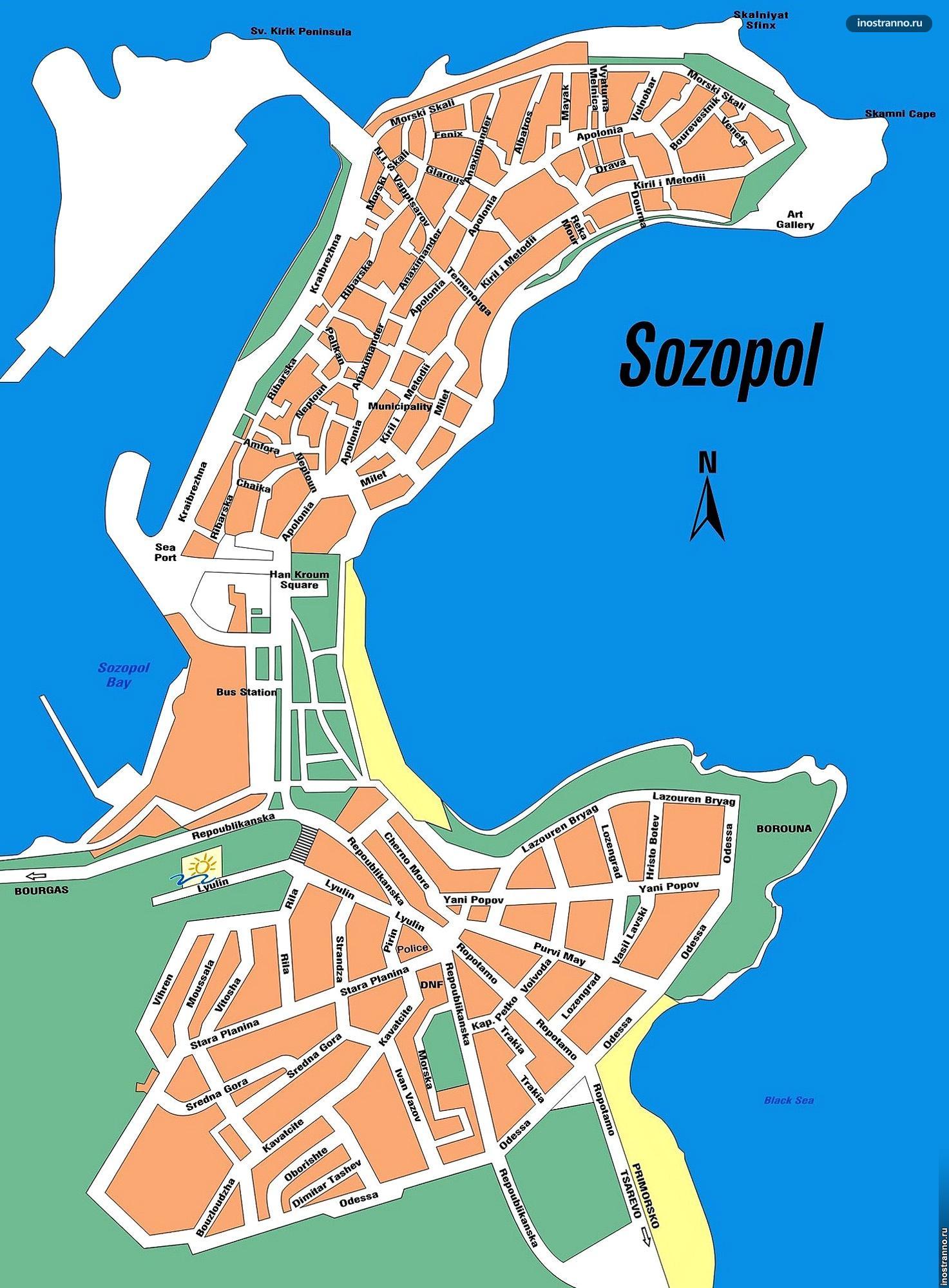 Карта Созополя