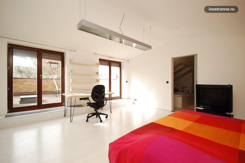 Спальня в квартире в Праге