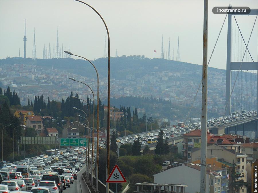 Мост через Босфор в Стамбуле