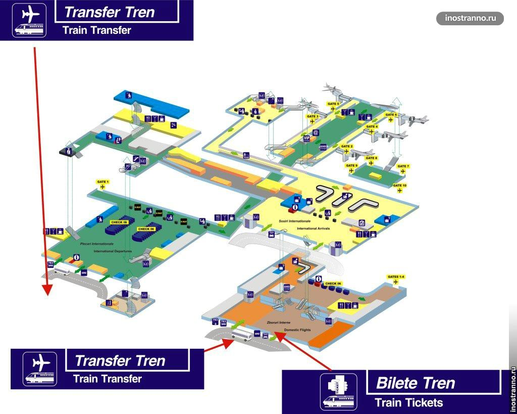 План аэропорта в Бухаресте