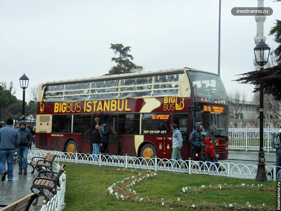 Туристический автобус в Стамбуле