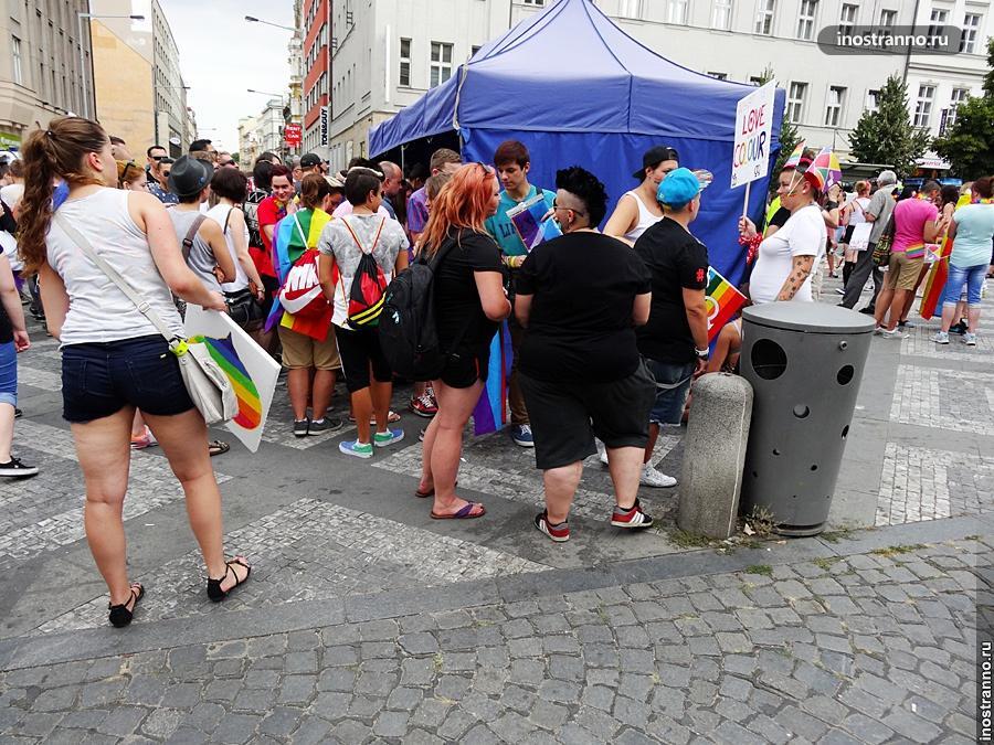 Гей-парад в Праге, лесбиянки