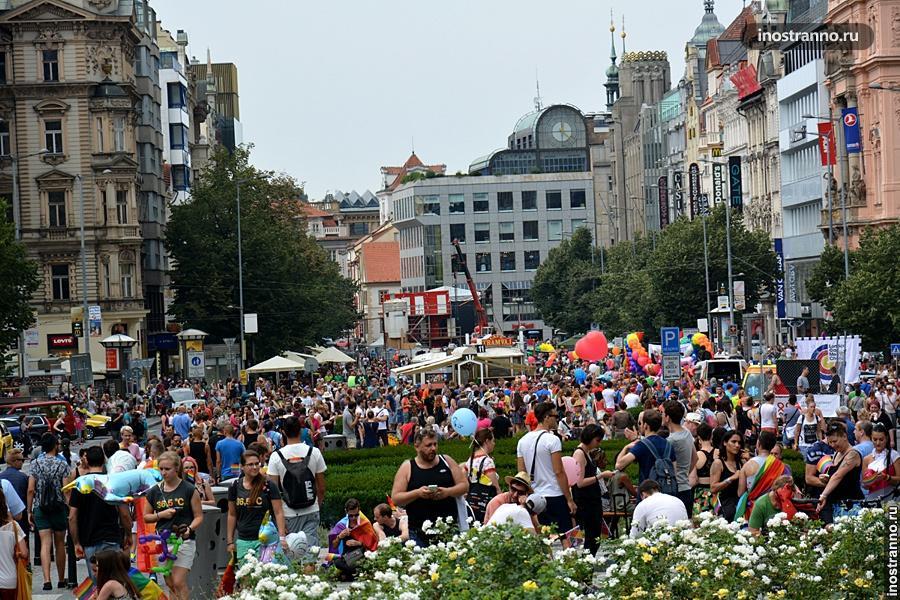 Фестиваль Гей-парад в Праге