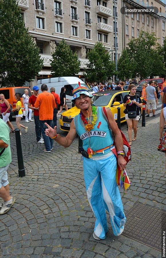 Голубой из Германии на Гей-параде