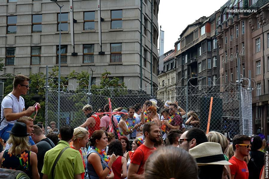 Гей-парад в Праге - танцы
