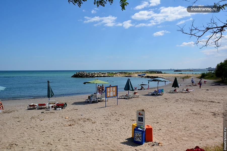 Пляж в Румынии в Констанце