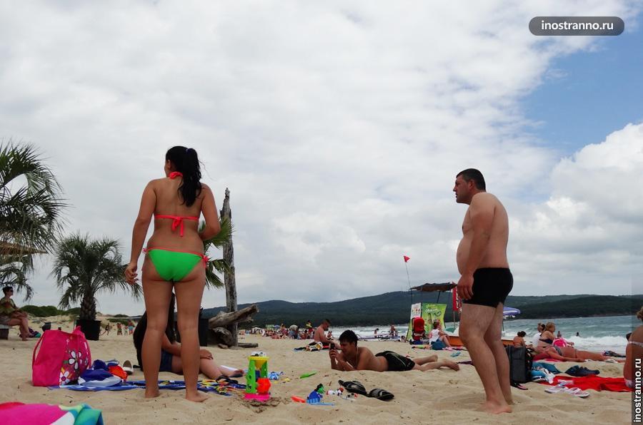 Румыны на пляже