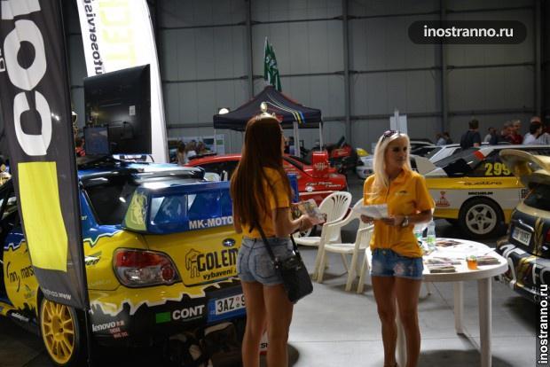Аппетитные чешские модели на автовыставке