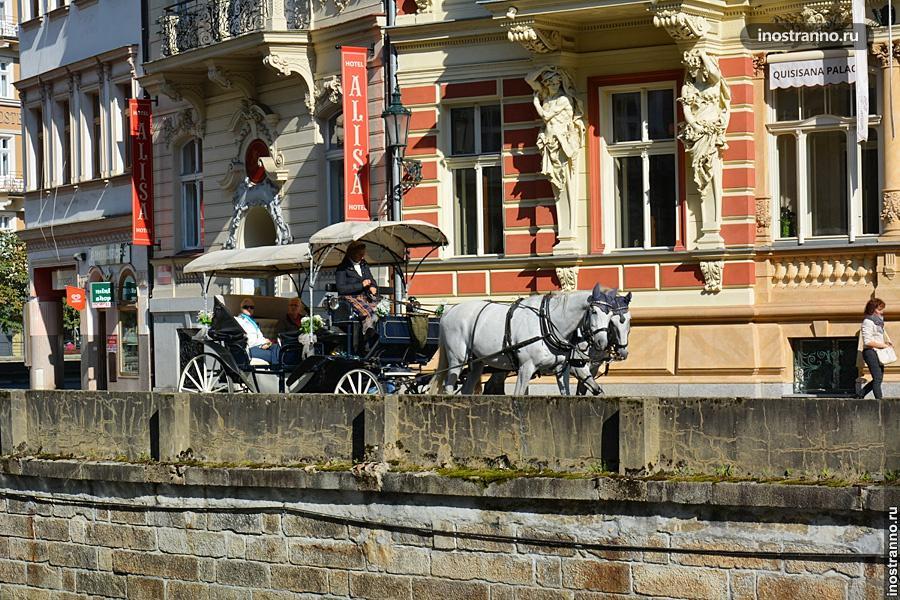 Прогулка на карете в Чехии